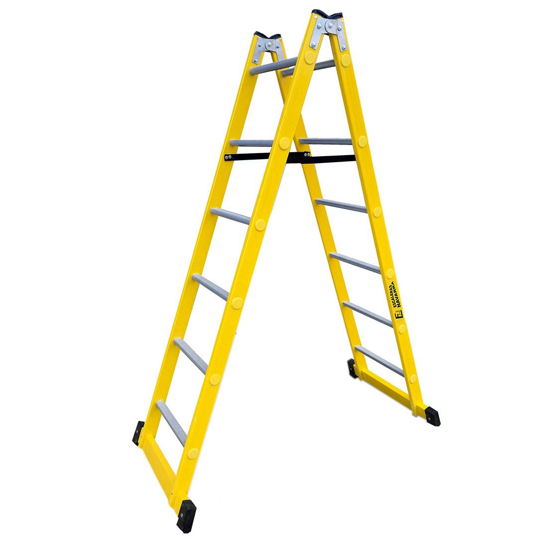 Escaleras de fibra de tijera escaleras navarra - Escaleras de trabajo ...